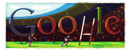Google Logo: Rugby World Cup 2011 in New Zealand from September 9 to October 23