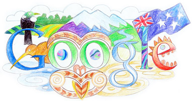 Google Logo: Winning Doodle 4 Google 'My Wish for New Zealand' - Drawn by  Liam Platt from Ponsonby