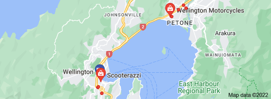 Map of motorcycles in wellington nz