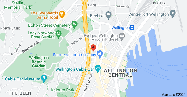 Map of 90 The Terrace, Wellington, 6011
