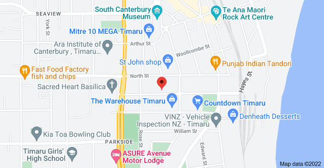 Map of 45 Heaton St, Parkside, Timaru 7910