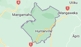 Map of Hunterville New Zealand